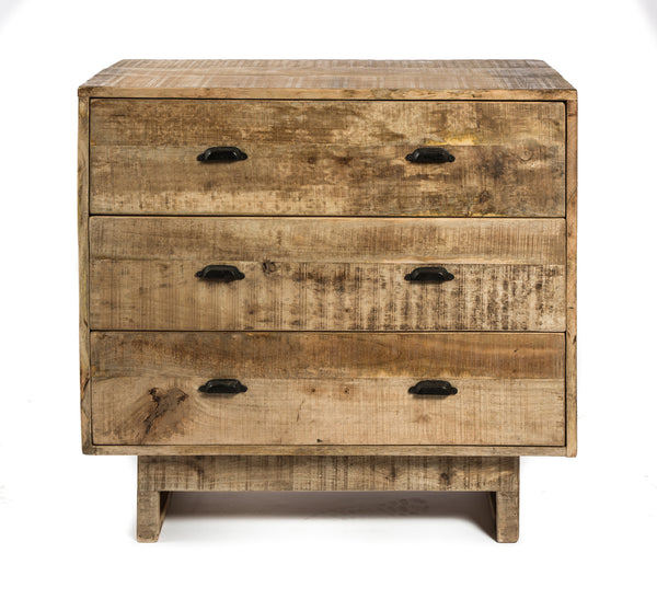 3 Drawer Mango Wooden Dresser