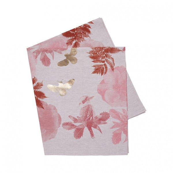 Kooka Waratah Tablecloth in Rose & Gold