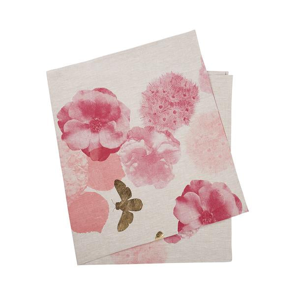 Roses Pink & Gold Tablecloth