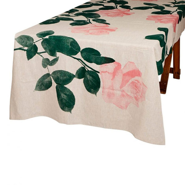 Rosa Tablecloth in Pink & Green