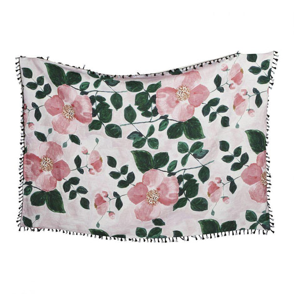 Linen Throw - Tea Rose