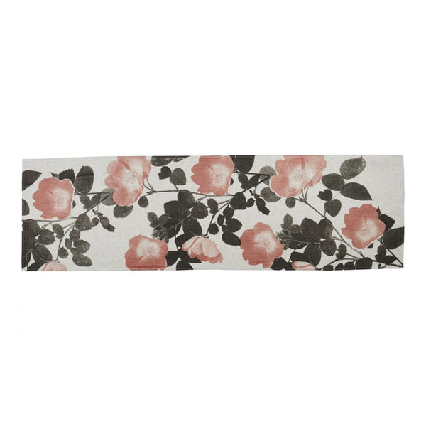 Climbing Rose Table Runner - Buff