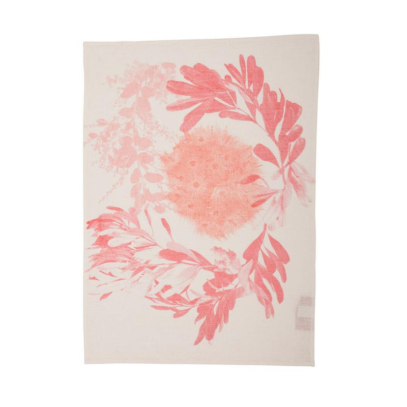Flowering Gum Pink Tea Towel