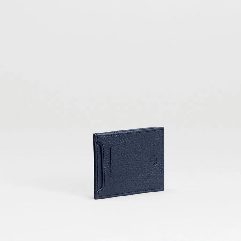 Lovon Leather Card Holder in Navy