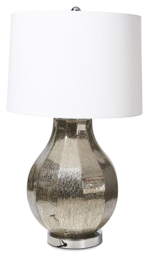 Paris Table Lamp with White Linen Shade