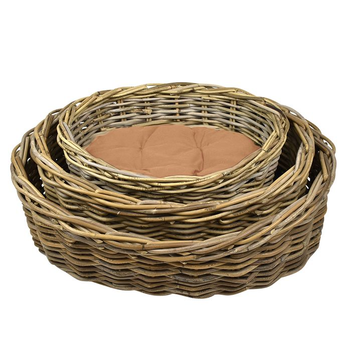 Arlin Wicker Pet Bed with Cushion