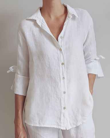 Amara Linen Shirt in White