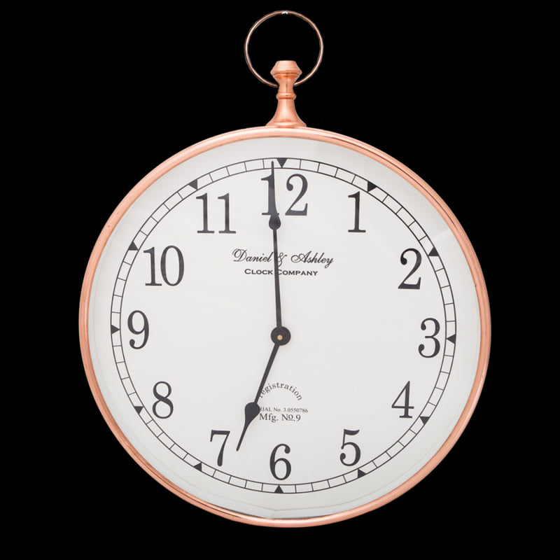 Copper Wall Clock 40cm