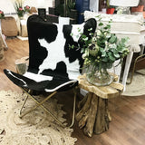 Daisy Butterfly Chair (Blk/Wh)