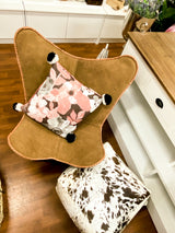 Daisy Butterfly Chair (Tan Leather)