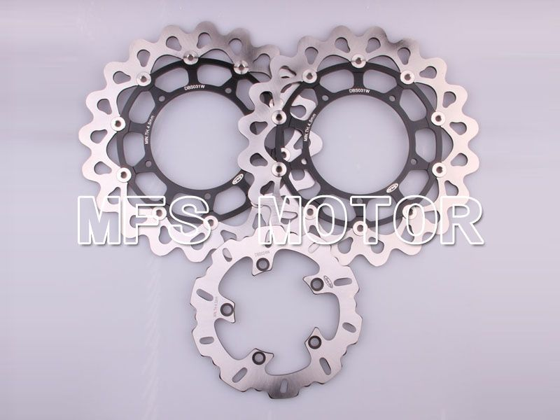 Front Rear Brake Rotors Disc For Suzuki GSXR600 GSXR750 97-03 GSXR1000 00-02