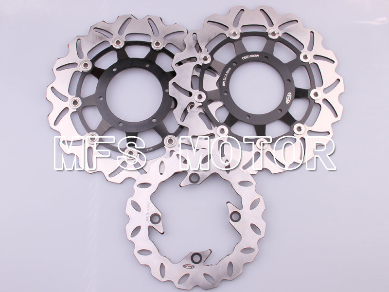 Front Rear Brake Rotors Disc For Honda CBR600 F4i 2001-2003