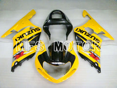 Injection ABS Fairing For Suzuki GSXR600 2001-2003 - Fabriksstil - Sort Gul - MFS2129 - Shopping og engros