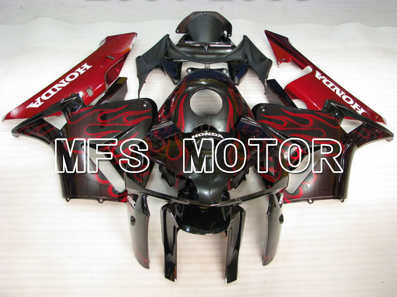Injection ABS Fairing For Honda CBR600RR 2005-2006 - Flamme - Rød Sort - MFS2154 - Shopping og engros