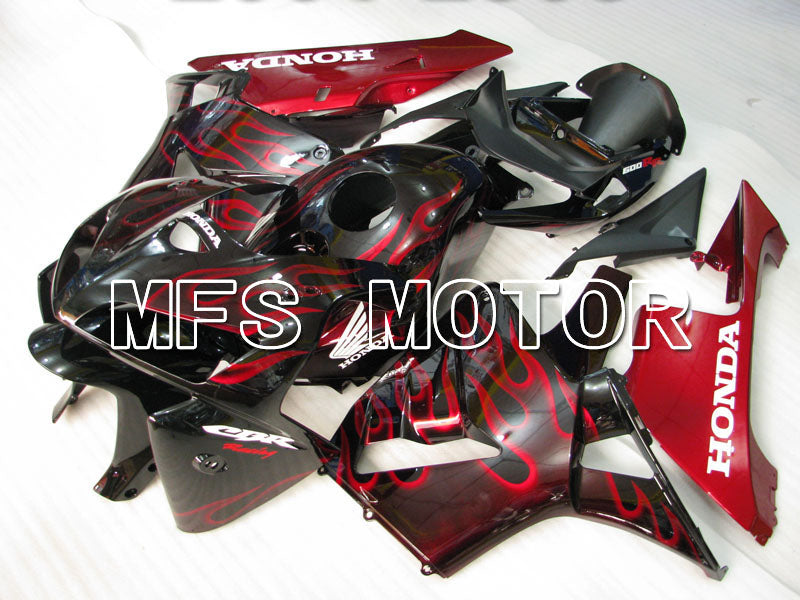 Injection ABS Fairing For Honda CBR600RR 2005-2006 - Flame - Red Black - MFS2154 - shopping and wholesale