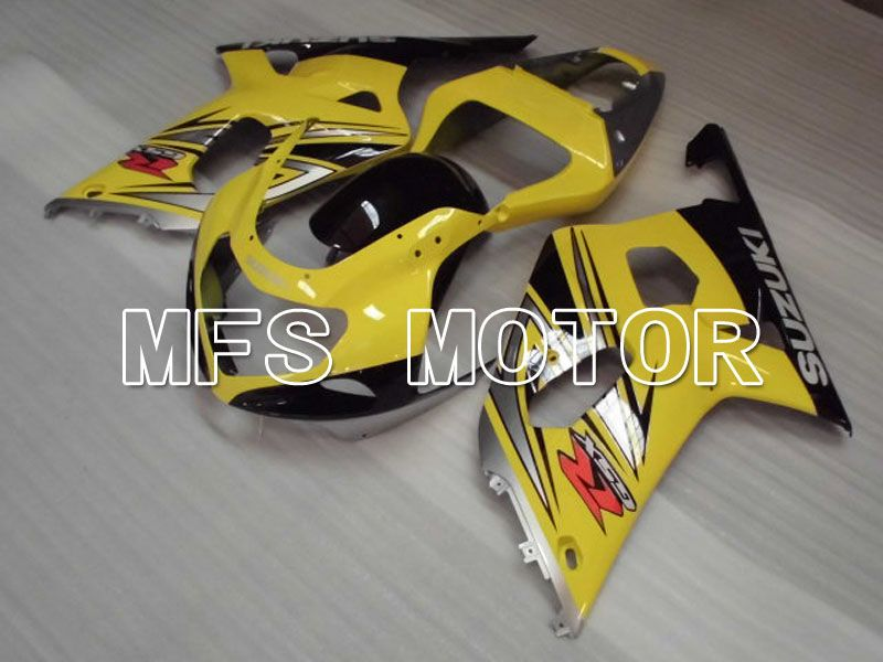 Injection ABS Fairing For Suzuki GSXR600 2001-2003 - Fabriksstil - Sort Gul - MFS2169 - Shopping og engros