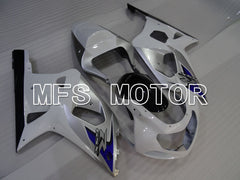 Injection ABS Fairing For Suzuki GSXR600 2001-2003 - Fabriksstil - Hvid Sølv - MFS2195 - Shopping og engros
