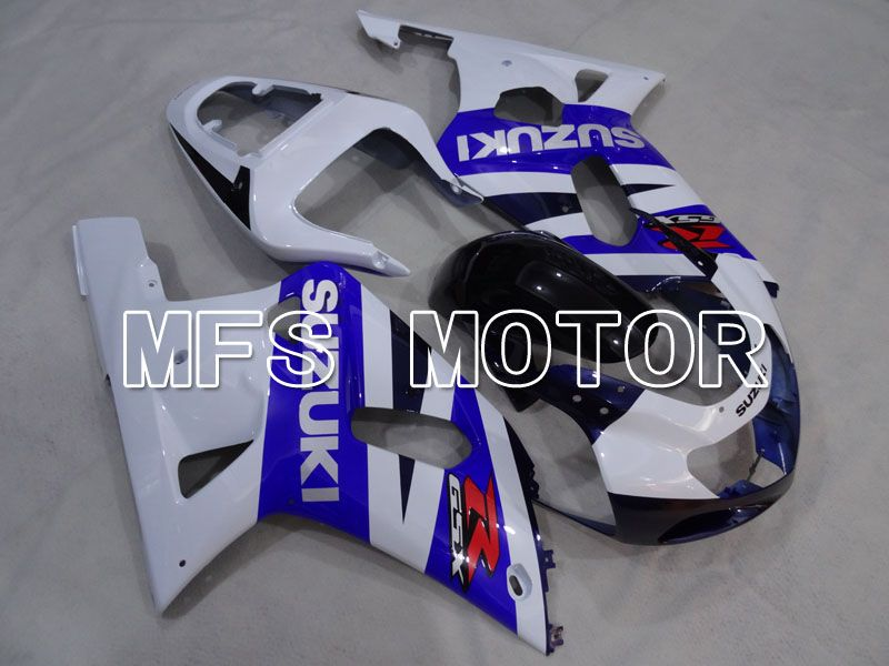 Injektion ABS Fairing For Suzuki GSXR600 2001-2003 - Fabriksstil - Hvid Blå - MFS2207 - Shopping og engros