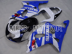 Injection ABS Fairing For Suzuki GSXR600 2001-2003 - Fabriksstil - Sort Wihte Blue - MFS2212 - Shopping og engros