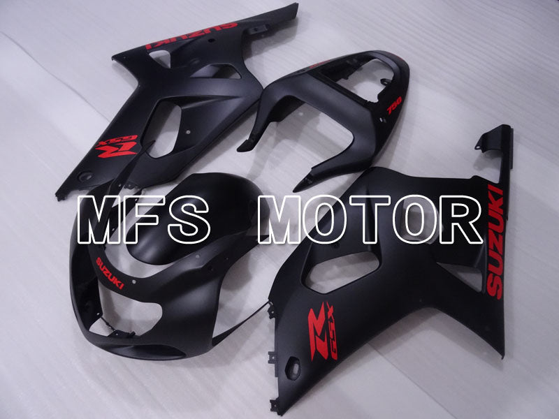 Injection ABS Fairing For Suzuki GSXR600 2001-2003 - Fabriksstil - Matte Sort - MFS2222 - Shopping og engros