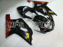 Iniezione ABS Carena per Suzuki GSXR600 2001-2003 - Factory Style - Black Red - MFS2224 - shopping e ingrosso