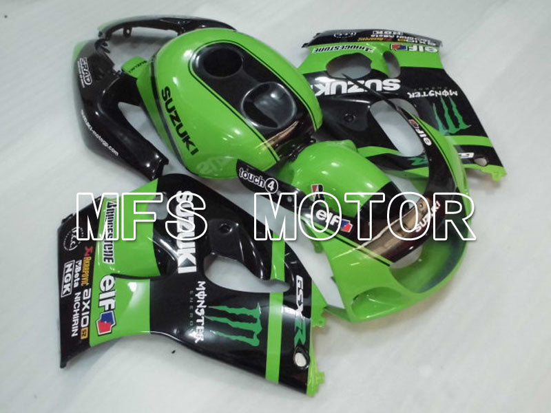Carena ABS per Suzuki GSXR600 1997-2000 - Mostro - Black Green - MFS2561 - shopping e ingrosso
