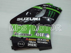 ABS carenado para Suzuki GSXR600 1997-2000 - Monster - Negro Verde - MFS2561 - compras y venta al por mayor