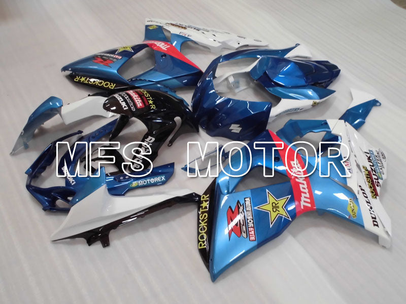 Injection ABS Fairing For Suzuki GSXR1000 2009-2016 - Rockstar - White Blue - MFS2718 - shopping and wholesale