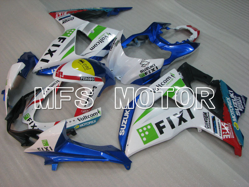Injection ABS Fairing For Suzuki GSXR1000 2009-2016 - FIXI - White Blue - MFS2729 - shopping and wholesale