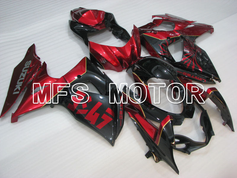 Injection ABS Fairing For Suzuki GSXR1000 2009-2016 - Factory Style - Black Red - MFS2730 - shopping and wholesale