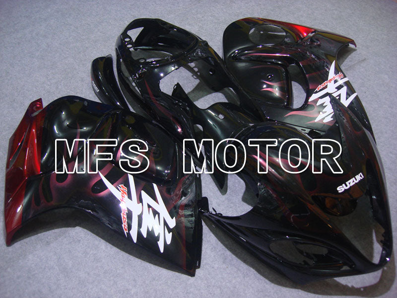 Injection ABS Fairing For Suzuki GSXR1300 Hayabusa 2008-2015 - Flame - Black Red - MFS2744 - shopping and wholesale