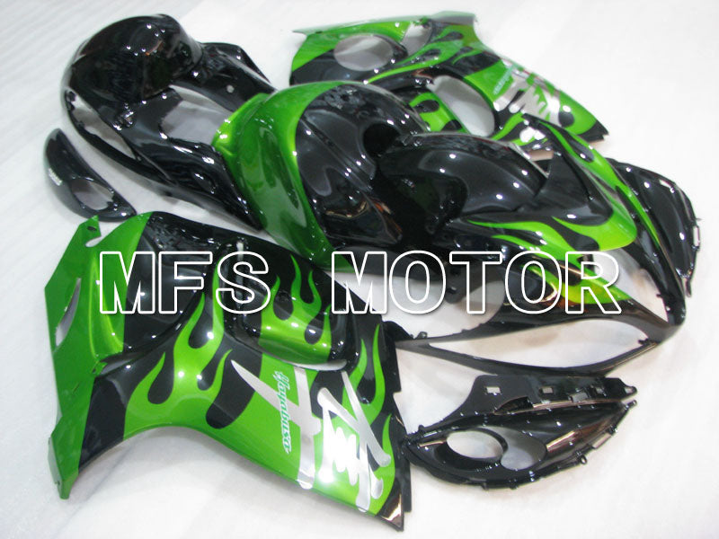 Injection ABS Fairing For Suzuki GSXR1300 Hayabusa 2008-2015 - Flame -  Black Green - MFS2763
