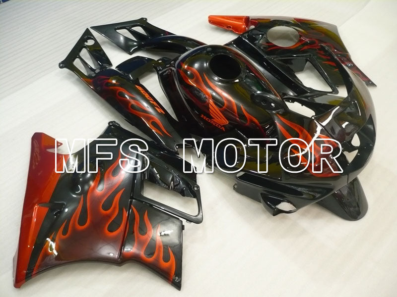 Carena ABS per Honda CBR600 F2 1991-1994 - Flame - Black Orange - MFS3103 - shopping e ingrosso
