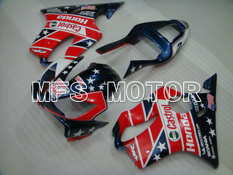 Injection ABS Fairing For Honda CBR600 F4i 2004-2007 - Castrol - Blå Rød - MFS3191 - Shopping og engros
