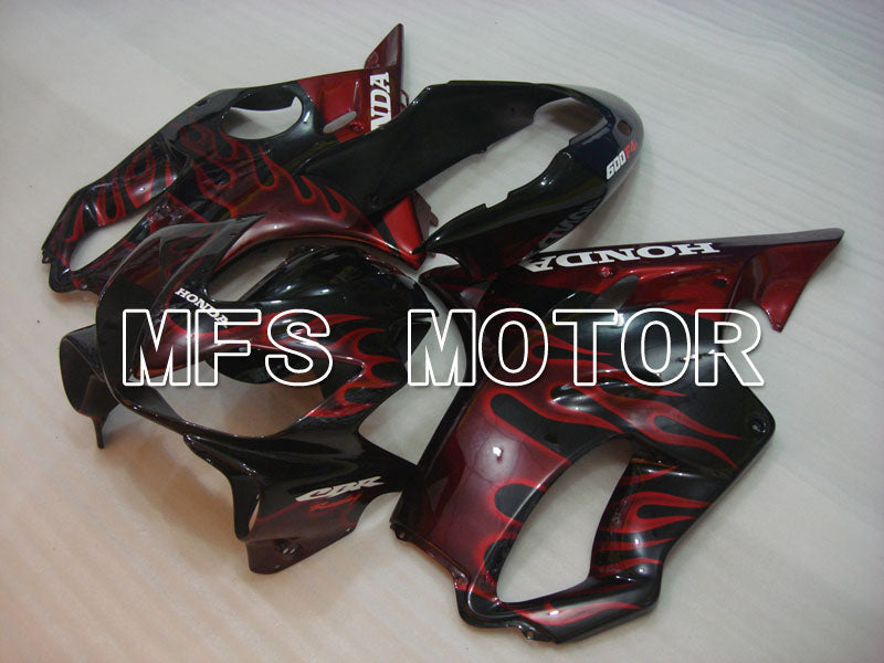 Injection ABS Fairing For Honda CBR600 F4i 2004-2007 - Flamme - Svart Rød - MFS3197 - Shopping og engros