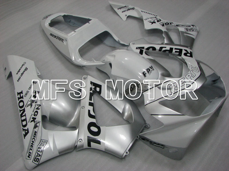 Injection ABS Fairing For Honda CBR900RR 929 2000-2001 - Repsol - White Silver - MFS3217 - shopping and wholesale