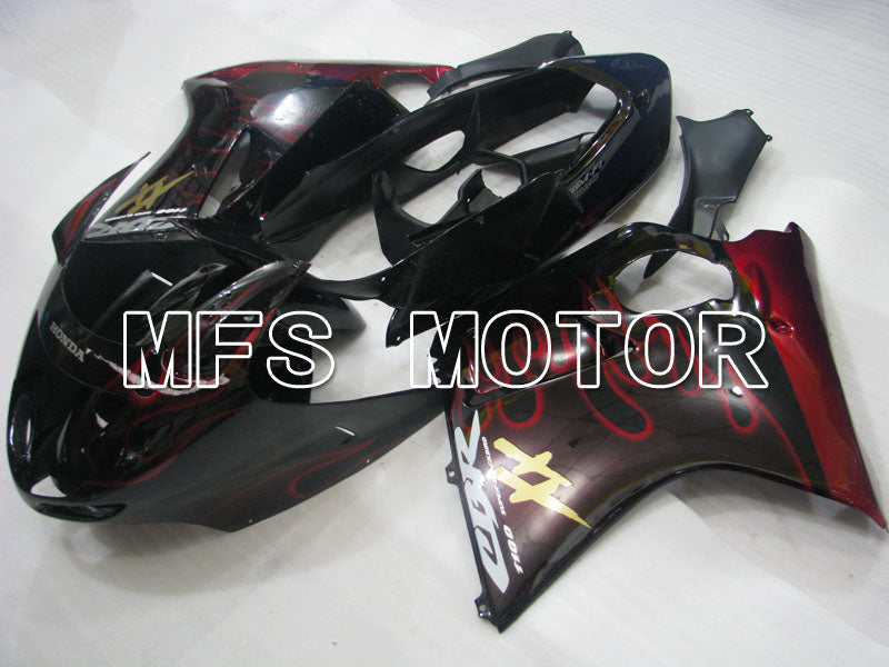 Injection ABS Fairing For Honda CBR1100XX 1996-2007 - Flamme - Svart Rød - MFS3245 - Shopping og engros