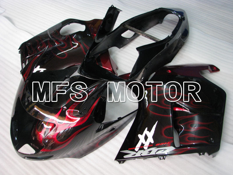 Injection ABS Fairing For Honda CBR1100XX 1996-2007 - Flame - Black Red - MFS3249 - shopping and wholesale