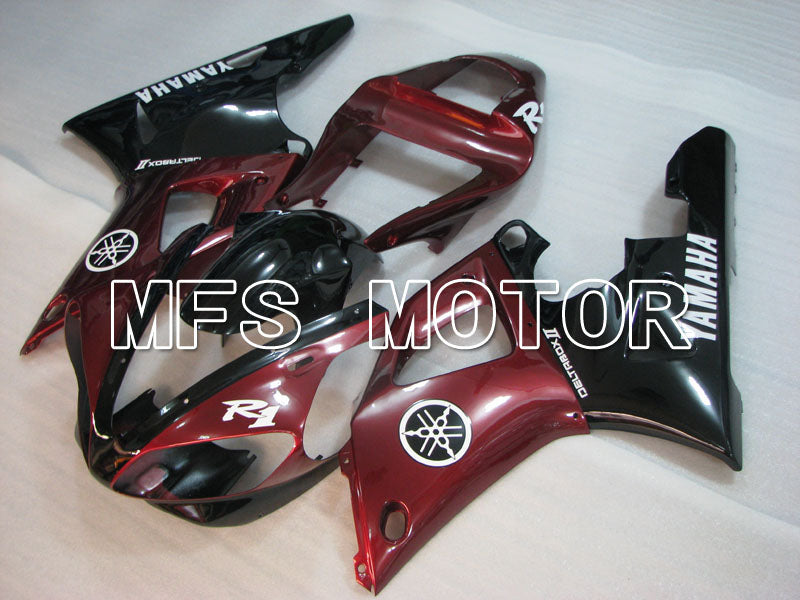 Injection ABS Fairing For Yamaha YZF-R1 2000-2001 - Factory Style - Black Red - MFS3280 - shopping and wholesale