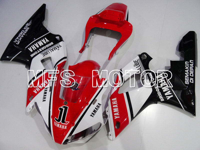 Injection ABS Fairing til Yamaha YZF-R1 2000-2001 - Fabriksstil - Sort Rød Hvid - MFS3281 - Shopping og engros