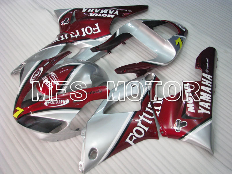 Injection ABS Fairing For Yamaha YZF-R1 2000-2001 - Fortuna - Rød Sølv - MFS3283 - Shopping og engros