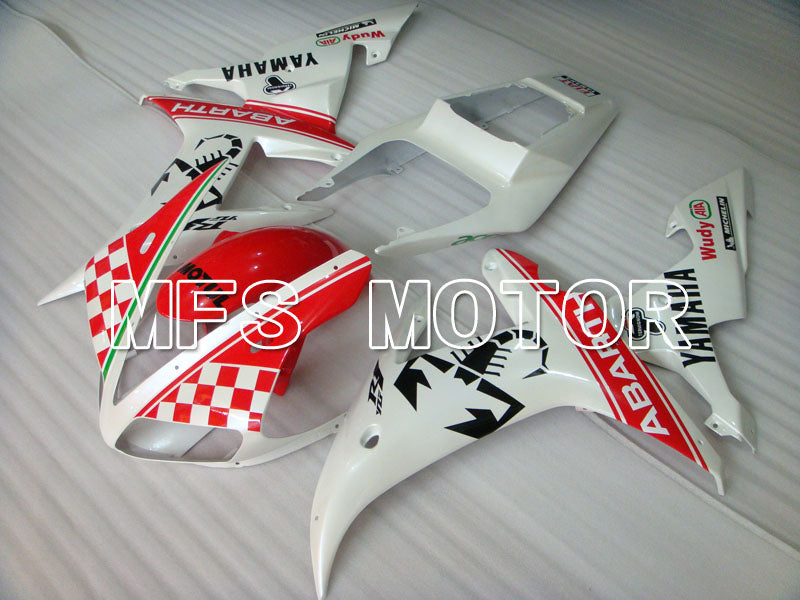 Injection ABS Fairing For Yamaha YZF-R1 2002-2003 - ABARTH - Rød Hvid - MFS3293 - Shopping og engros