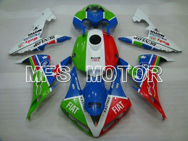 Injection ABS Fairing For Yamaha YZF-R1 2004-2006 - FIAT - Blå Grøn Rød Hvid - MFS3304 - Shopping og engros