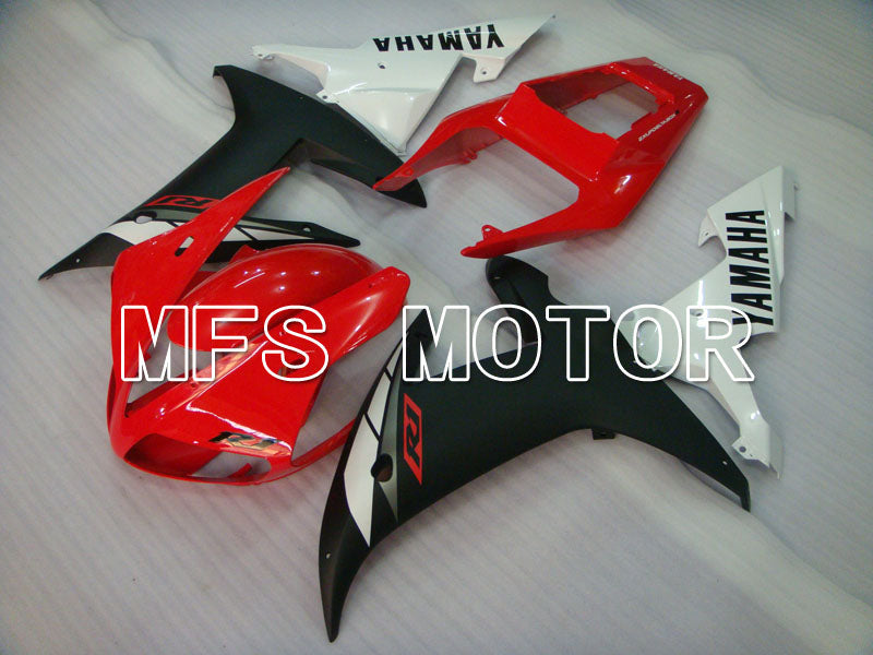 Injection ABS Fairing For Yamaha YZF-R1 2002-2003 - Fabriksstil - Rød Sort Matte - MFS3326 - Shopping og engros