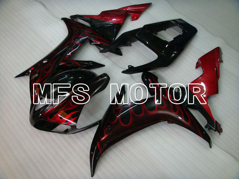 Injection ABS Fairing For Yamaha YZF-R1 2002-2003 - Flame - Black Red Wine Color - MFS3351 - shopping and wholesale