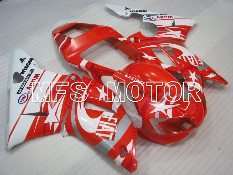 Injection ABS Fairing For Yamaha YZF-R1 1998-1999 - FIAT - Rødhvide - MFS3398 - Shopping og engros