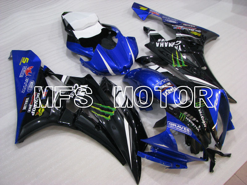 Injection ABS Fairing For Yamaha YZF-R6 2006-2007 - Monster - Blue Black - MFS3798 - shopping and wholesale