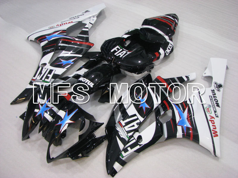 Injection ABS Fairing For Yamaha YZF-R6 2006-2007 - FIAT - Black White - MFS3816 - shopping and wholesale