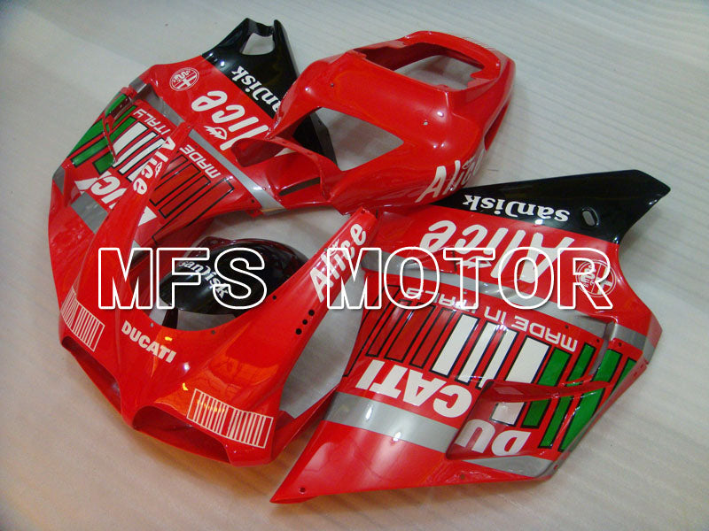 Injection ABS Fairing For Ducati 748 / 998 / 996 1994-2002 - Alice - Svart Rød - MFS3885 - Shopping og engros