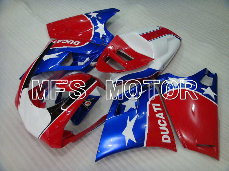 Injection ABS Fairing For Ducati 748 / 998 / 996 1994-2002 - Fabrikkstil - Blå Rød - MFS3898 - Shopping og engros